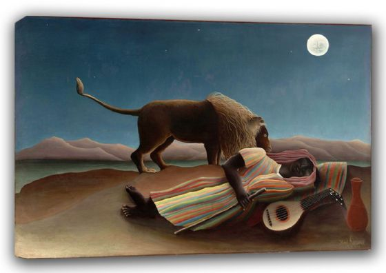 Rousseau, Henri: The Sleeping Gypsy. Fine Art Canvas. Sizes: A3/A2/A1 (00555)